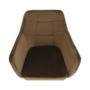 Kép 7/17 - ZERON fotel,  szövet velvet arany-barna/tölgy