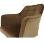 Kép 8/17 - ZERON fotel,  szövet velvet arany-barna/tölgy