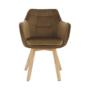 Kép 11/17 - ZERON fotel,  szövet velvet arany-barna/tölgy