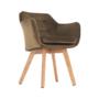 Kép 12/17 - ZERON fotel,  szövet velvet arany-barna/tölgy