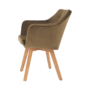 Kép 14/17 - ZERON fotel,  szövet velvet arany-barna/tölgy