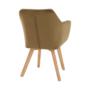 Kép 15/17 - ZERON fotel,  szövet velvet arany-barna/tölgy