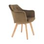 Kép 16/17 - ZERON fotel,  szövet velvet arany-barna/tölgy
