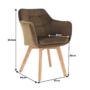 Kép 17/17 - ZERON fotel,  szövet velvet arany-barna/tölgy