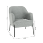 Kép 3/18 - MATIR Dizájnos fotel,  szürke/fekete