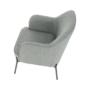 Kép 9/18 - MATIR Dizájnos fotel,  szürke/fekete
