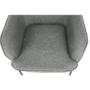 Kép 14/18 - MATIR Dizájnos fotel,  szürke/fekete