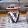 Kép 10/13 - NANCER kisasztal,  természetes/fekete [TYP 2]