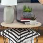 Kép 12/13 - NANCER kisasztal,  természetes/fekete [TYP 2]