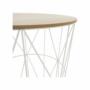 Kép 2/17 - NANCER kisasztal,  természetes/fehér [TYP 3]