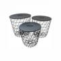 Kép 6/14 - BATIS kisasztal,  grafit/fekete [TYP 1]
