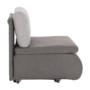 Kép 2/18 - KENET Kinyitható fotel,  szürke-barna Taupe