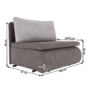 Kép 10/18 - KENET Kinyitható fotel,  szürke-barna Taupe