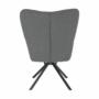 Kép 3/19 - KOMODO Dizájnos forgó fotel,  patchwork/fekete