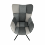 Kép 4/19 - KOMODO Dizájnos forgó fotel,  patchwork/fekete