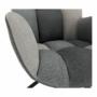 Kép 7/19 - KOMODO Dizájnos forgó fotel,  patchwork/fekete