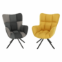 Kép 11/19 - KOMODO Dizájnos forgó fotel,  patchwork/fekete