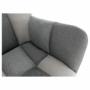 Kép 2/19 - KOMODO Dizájnos forgó fotel,  patchwork/fekete