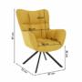 Kép 3/20 - KOMODO Dizájnos feorgó fotel,  sárga/fekete