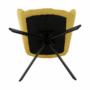 Kép 5/20 - KOMODO Dizájnos feorgó fotel,  sárga/fekete
