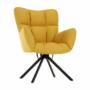 Kép 6/20 - KOMODO Dizájnos feorgó fotel,  sárga/fekete