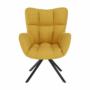 Kép 7/20 - KOMODO Dizájnos feorgó fotel,  sárga/fekete