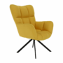 Kép 8/20 - KOMODO Dizájnos feorgó fotel,  sárga/fekete