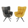 Kép 10/20 - KOMODO Dizájnos feorgó fotel,  sárga/fekete