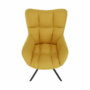 Kép 12/20 - KOMODO Dizájnos feorgó fotel,  sárga/fekete