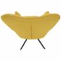 Kép 13/20 - KOMODO Dizájnos feorgó fotel,  sárga/fekete