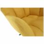 Kép 14/20 - KOMODO Dizájnos feorgó fotel,  sárga/fekete