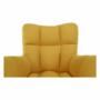 Kép 15/20 - KOMODO Dizájnos feorgó fotel,  sárga/fekete