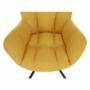 Kép 16/20 - KOMODO Dizájnos feorgó fotel,  sárga/fekete