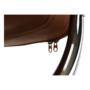 Kép 7/16 - ILKIN 2 személyes pad a  várótermekbe,  barna/króm