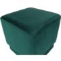 Kép 2/10 - ALIMA Puff,  smaragd Velvet anyag