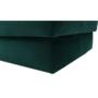 Kép 3/10 - ALIMA Puff,  smaragd Velvet anyag