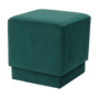 Kép 6/10 - ALIMA Puff,  smaragd Velvet anyag
