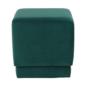 Kép 7/10 - ALIMA Puff,  smaragd Velvet anyag