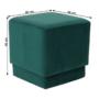 Kép 8/10 - ALIMA Puff,  smaragd Velvet anyag