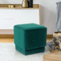 Kép 10/10 - ALIMA Puff,  smaragd Velvet anyag