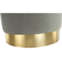 Kép 4/15 - ALAZ Puff,  szürke Velvet anyag/gold króm-arany