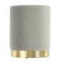 Kép 14/15 - ALAZ Puff,  szürke Velvet anyag/gold króm-arany