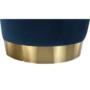 Kép 9/16 - ALAZ Puff,  kék Velvet anyag/gold króm-arany