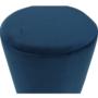 Kép 10/16 - ALAZ Puff,  kék Velvet anyag/gold króm-arany
