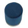 Kép 11/16 - ALAZ Puff,  kék Velvet anyag/gold króm-arany