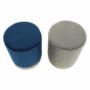 Kép 3/16 - ALAZ Puff,  kék Velvet anyag/gold króm-arany