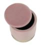 Kép 13/21 - ANIZA Puff,  rózsaszín Velvet anyag/gold króm-arany