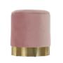 Kép 20/21 - ANIZA Puff,  rózsaszín Velvet anyag/gold króm-arany