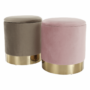 Kép 3/21 - ANIZA Puff,  rózsaszín Velvet anyag/gold króm-arany