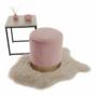 Kép 4/21 - ANIZA Puff,  rózsaszín Velvet anyag/gold króm-arany